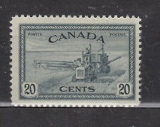 1946 #271 20¢ COMBINE HARVESTING KING GEORGE VI PEACE ISSUE F-VFNH