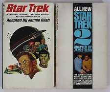 Star Trek TOS Original Series 1967-1968 #1 6th Ed & #2 3rd Ed Paperback Lot of 2