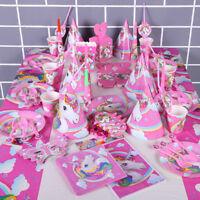 Unicorn Party Supplies Set & Tableware Kit Birthday Decorations Bunting Decor