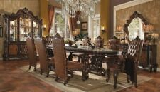 """Versailles 9 Piece Formal Dining Room Set 120"""" Table & Chairs Ornate Traditional"""