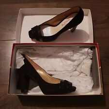 SACHELLE COUTURE Lucy black suede heels shoes 37 4 uk womens ladies RRP £125