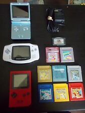 Gameboy Pocket & Pokemon Red Yellow Blue Gold Silver Crystal Games + More