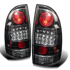 Toyota 05-15 Tacoma Black LED Rear Tail Lights Lamp Set SR5 X/Pre-Runner