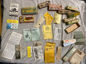 Lot of Empty Fishing Lure Boxes Inserts Found In Old Tackle Boxes Heddon Creek