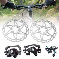 Mountain Bike Steel Disc Brake Caliper Set Universal Bicycle Accessory(black)