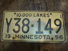 VINTAGE 1956 MINNESOTA LICENSE PLATES (Y38-149)