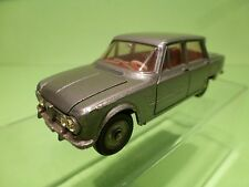 DINKY TOYS 1:43 - ALFA GIULIA TI 514  - RARE COLOR GREY   - EXCELLENT  CONDITION