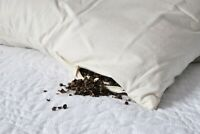 ECCO Buckwheat Pillow bedding cotton pillow cover zipped 100% Organic, Vegan