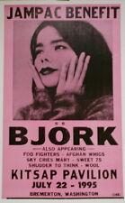 Björk Concert Poster - 1995 Jampac Benefit w/ Foo Fighters Afghan Whigs