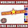vietnam surf club sticker 180mm wide surfing apocalypse now