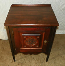 Walnut Carved Cabinet / Nightstand (Dr6)