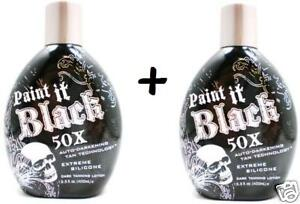 2 NEW PAINT IT BLACK 50X BRONZER INDOOR TANNING LOTION