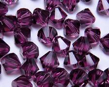 Bicone Beads Swarovski Crystal Amethyst 8mm x 4pcs