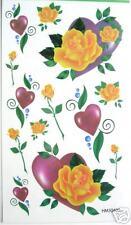 Rose Heart Glitter Temporary Tattoos #HM50403