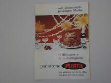 advertising Pubblicità 1961 PANETTONE MOTTA