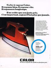 PUBLICITE advertising   1975   CALOR   fer à repasser vapeur