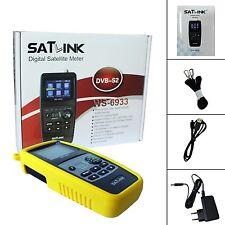 """Satlink WS-6933 DVB-S2 HD 2.1"""" LCD FTA Digital Satellite Signal Finder Meter"""