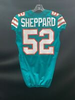 #52 KELVIN SHEPPARD MIAMI DOLPHINS GAME USED THROWBACK NIKE JERSEY YEAR 2015