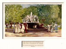 Napoli: Villa Comunale: Fontana della Tazza di Porfido o delle Paparelle. 1904