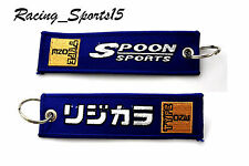 JDM SPOON SPORTS  DOUBLE SIDE Racing Cell Holders Keychain Universal HONDA TYPE