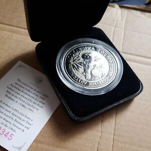 Australia kookaburra 2oz speciman Silver Proof Coin .1993 emu privy Mark.