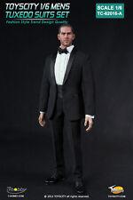"""TOYS CITY Mens Tuxedo Suits Set Black Color 1/6 Fit for 12"""" action figure"""