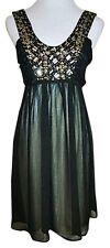 Forever 21 Dress Sleeveless Empire Waist Black Chiffon size Small