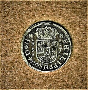 1726-j Spain, Real coin (KM#306.2) in .9170 silver composition at V.F. condition