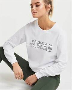 Jaggad Ladies Classic Keyline Sweater Crew Sweatshirt Pullover Jumper Tops XS/8