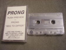 RARE PROMO Prong CASSETTE TAPE Beg To Differ rush preview GODFLESH Ministry 1990
