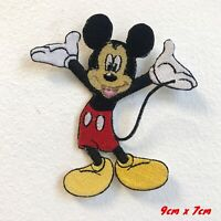 Happy Mickey Mouse Cartoon Embroidered Iron on Sew on Patch #1727