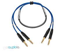 Premium 2 Channel Mogami 2930 Snake   Neutrik Gold TRS to TRS   Blue 30 ft.