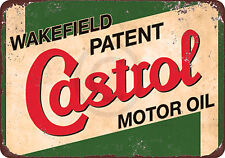 Wakefield Castrol Motor Oil Reproduction Metal Sign 8 x 12