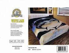 2 ply Plush Blanket heavy luxurious throw Dolphins ocean blue