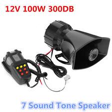 300db 100W 12V Loud Horn Car Truck 7 Sound Tone Speaker Warning Alarm PA System