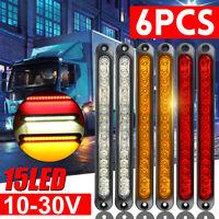 6X 15LED For Trailer Truck Caravan UTE Stop Brake Tail Reverse Light Ultra-Slim