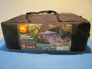 """NEW OZARK TRAIL W883 TENT 12 PERSON 7'6"""" CENTER HEIGHT FRONT AND REAR DOORS"""