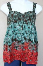 CATO Womens Plus Size XL Tank Stretch Multi Color Spring Summer Sleeveless