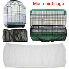 Pet Bird Cage Tidy Guard Cover Skirt Net Basket ^
