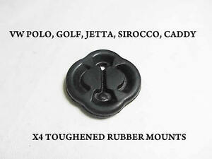 4 x Rubbers VW GOLF MK1 MK2 POLO SIROCCO JETTA CADDY EXHAUST SUPPORT HANGER