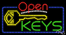 "New ""Open Keys"" 32x17 Solid/ Animated Led Sign W/Custom Options 25528"