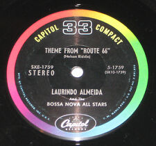 """Laurindo Almeida & Bossa Nova All Stars 7"""" 33 HEAR JAZZ Route 66 One Note Samba"""