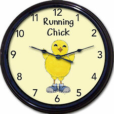 Running Jogging Track Wall Clock Sports Sneakers Chick Runner Jogger New 10""