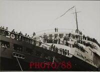 PHOTOGRAPHIE   PAQUEBOT  NORMANDIE PASSAGER   WORLD TOUR  17x13  cm  FRENCH LINE