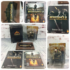 Resistance 2 -- Collector's Edition- Complete In Box (Sony PlayStation 3, 2008)