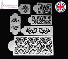 Stencils Cake Cupcake Decorating Craft Airbrush Buttercream| Damask Large x 7