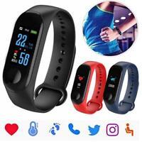 Sport Smart Watch Bracelet Wristband Fitness Tracker Blood Pressure HeartRate