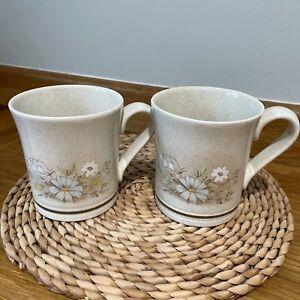 "Vintage Royal Doulton ""Florinda"" Coffee Tea Mug Pair (x2) Good Condition"