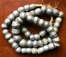 """Vintage Aluminum Beads - African Trade Beads, 28"""" Strand"""
