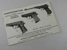 WALTHER PP/PPK/SPORT HANDLING AND INSTRUCTIONS BOOK ORIGINAL FROM FACTORY